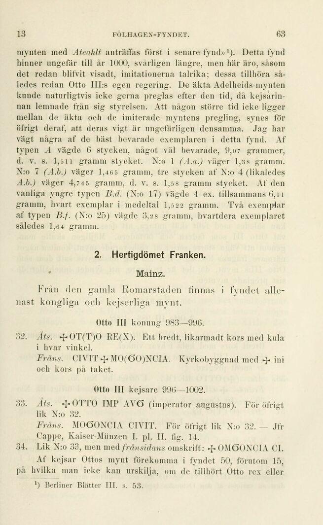 63 Antiqvariskantikvarisk Tidskrift För Sverige Tredje Delen