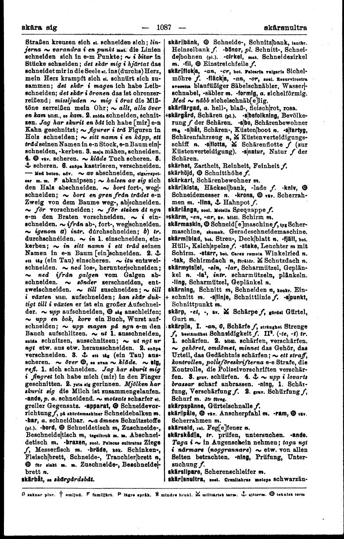 1087 (Svensk-tysk ordbok)