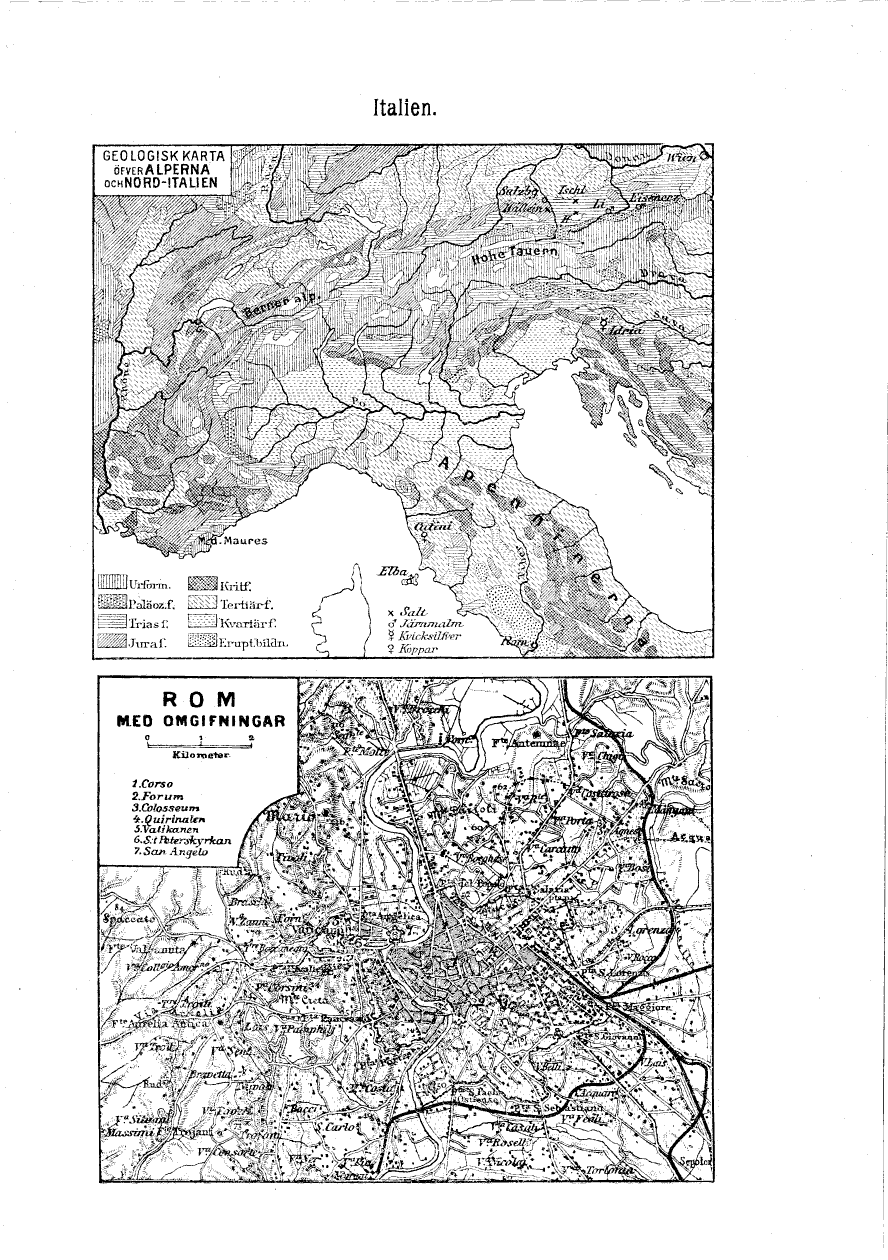 Karta Nord Italien.Fore Karta 22 Geografisk Handatlas Ofver Jorden