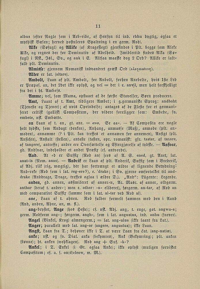 etymologisk ordbog