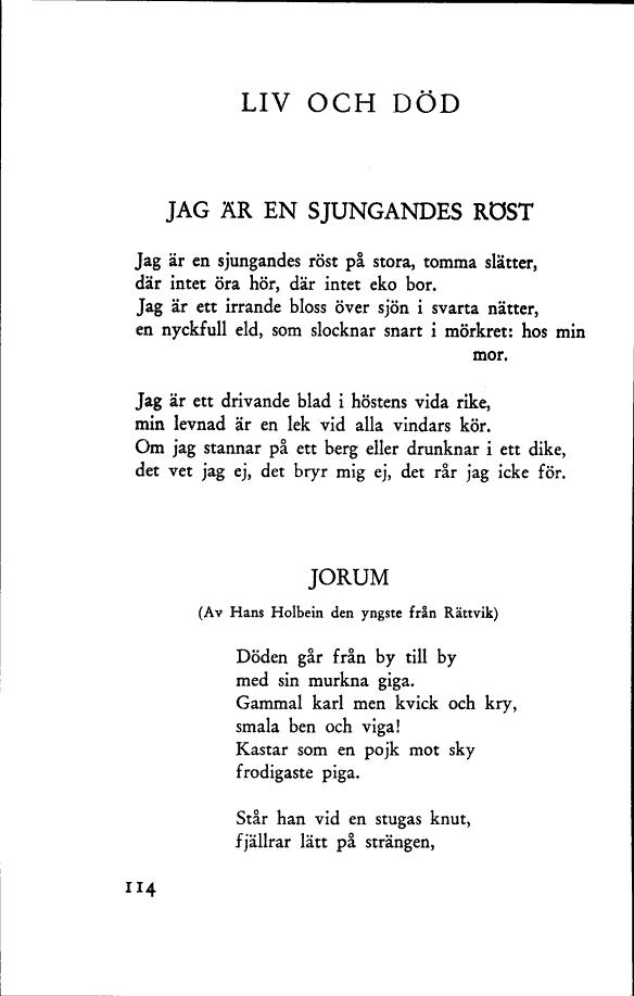 dikter om döden