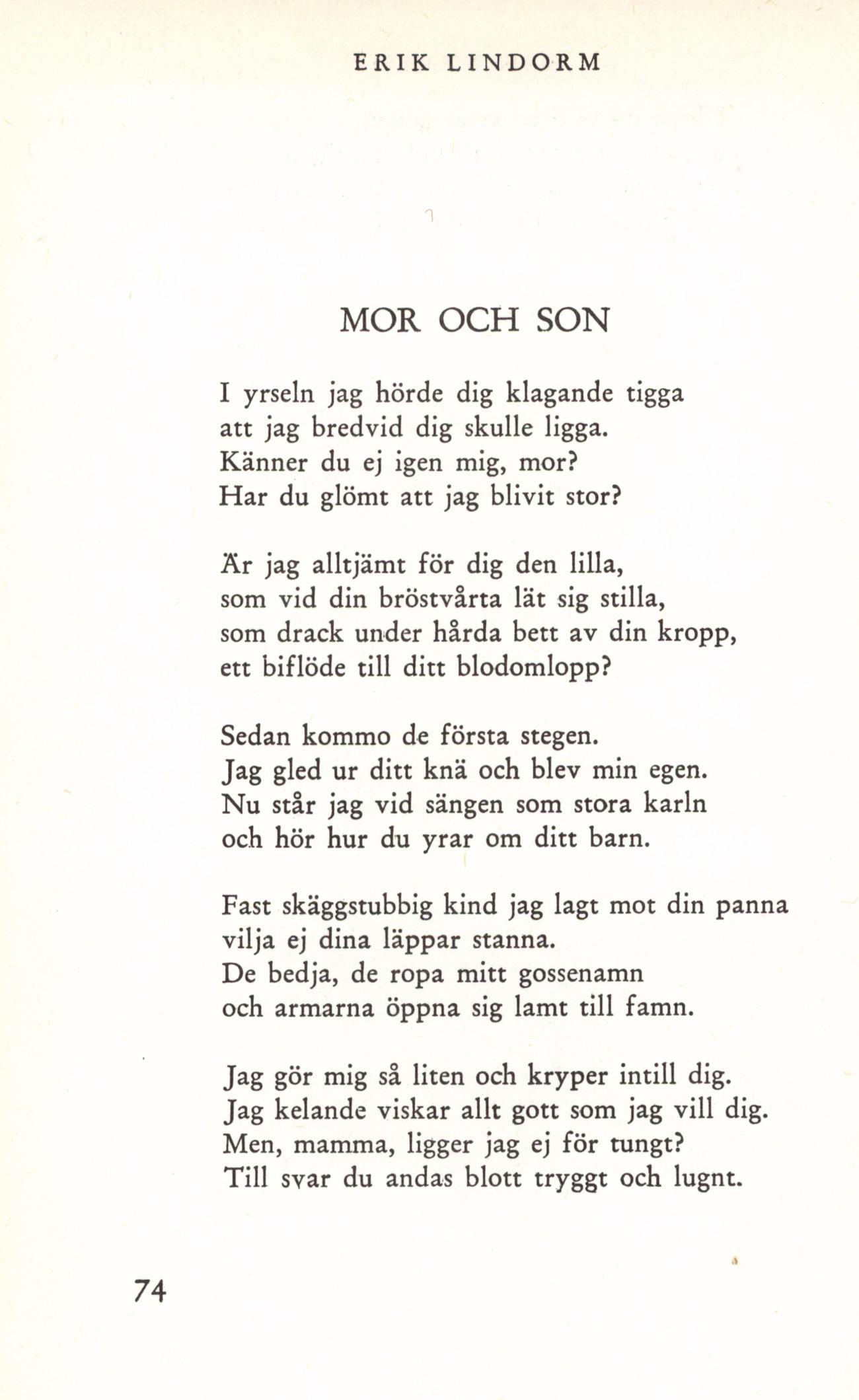 dikt till mamma