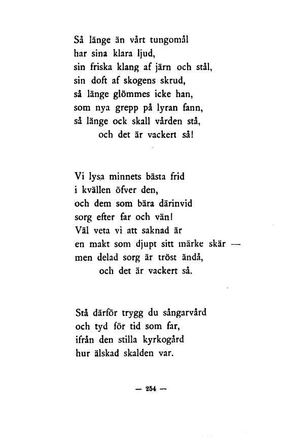 vackra dikter vid sorg