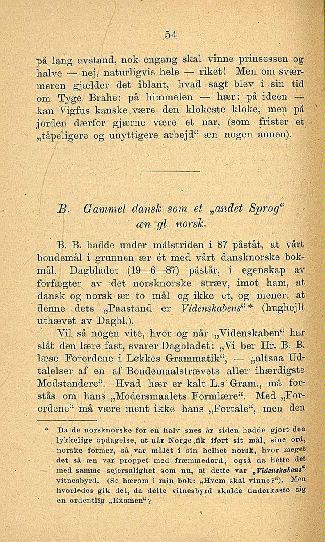 gammel dansk sprog