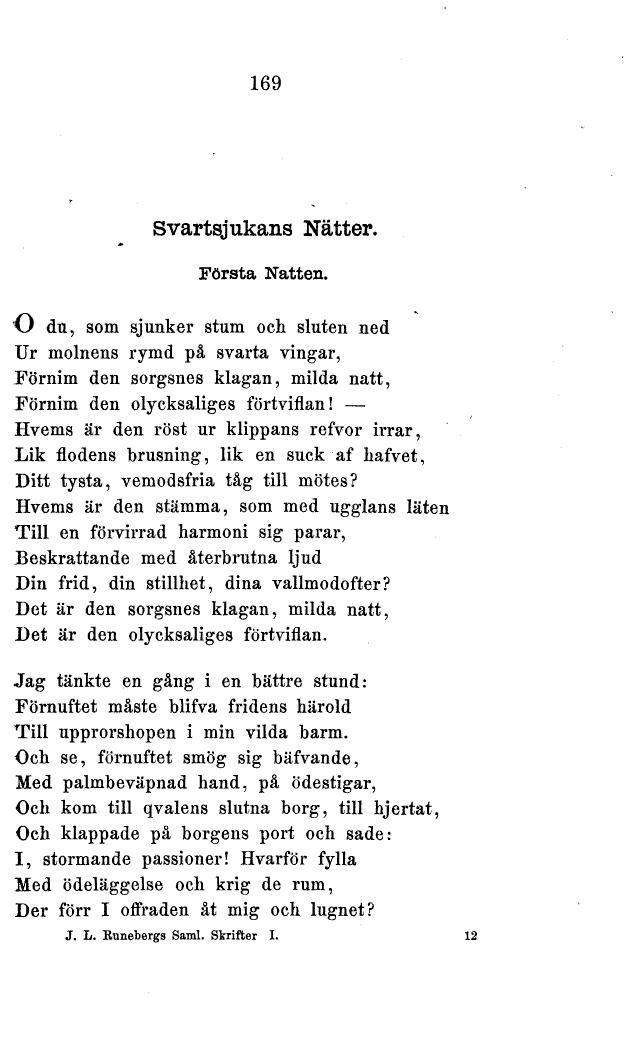 svartsjukans nätter runeberg