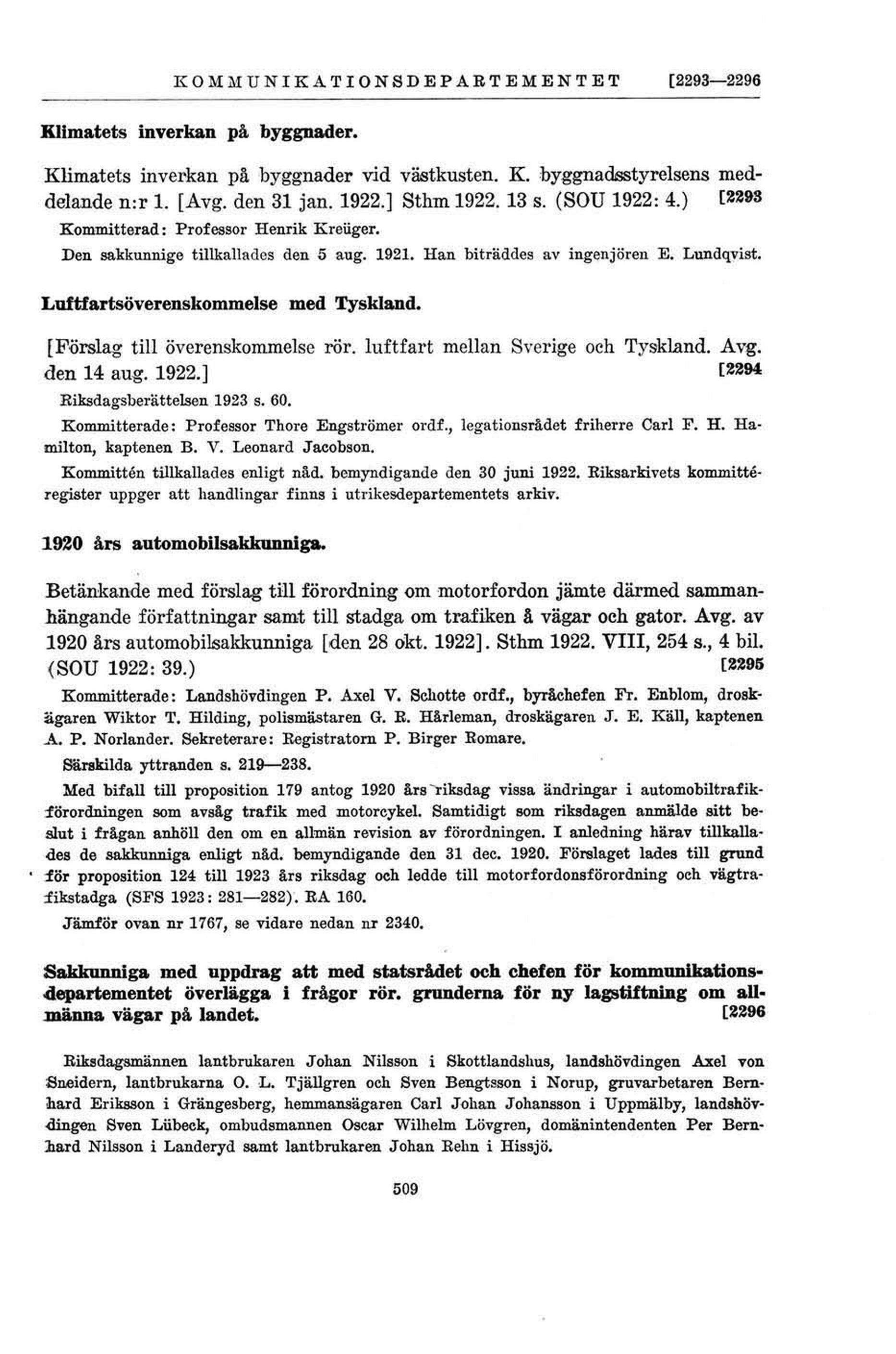 509 (Förteckning över statliga utredningar 1904-1945) 87adb5a54a364