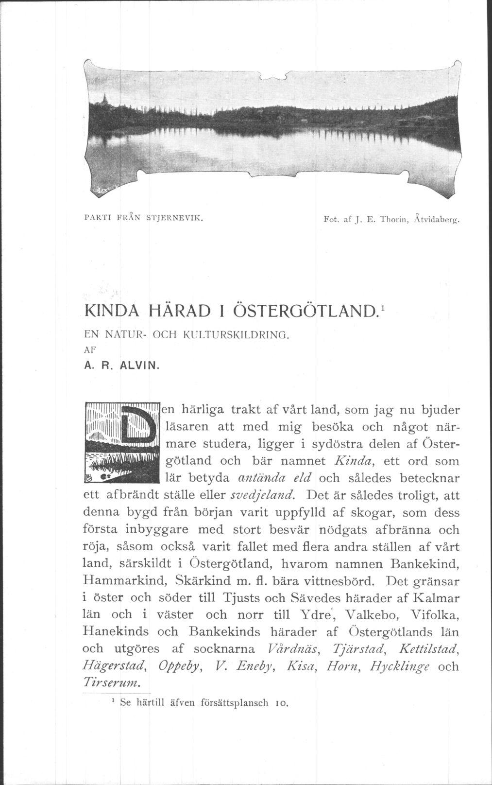 236 Svenska Turistforeningens Arsskrift 1905