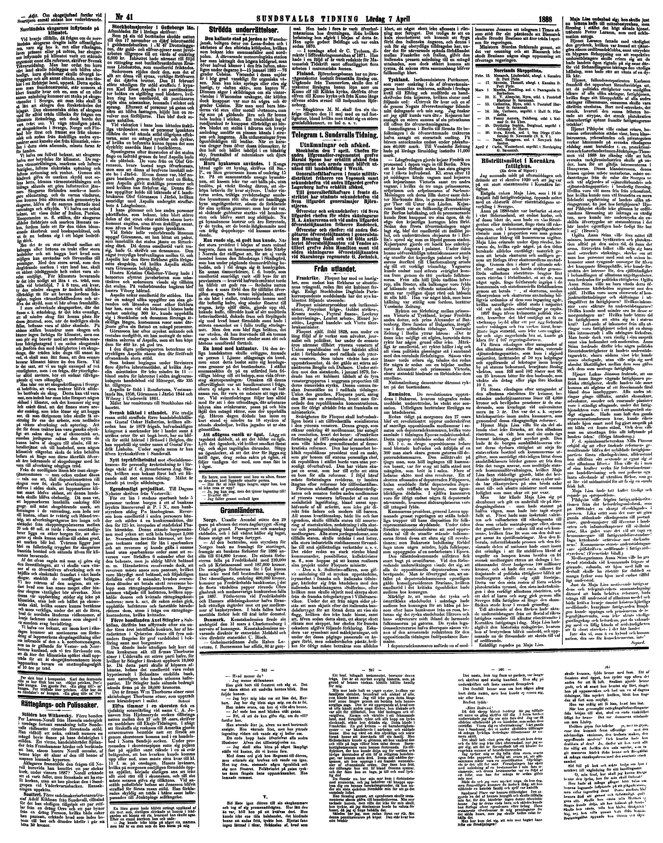 Tidning med mod i barm