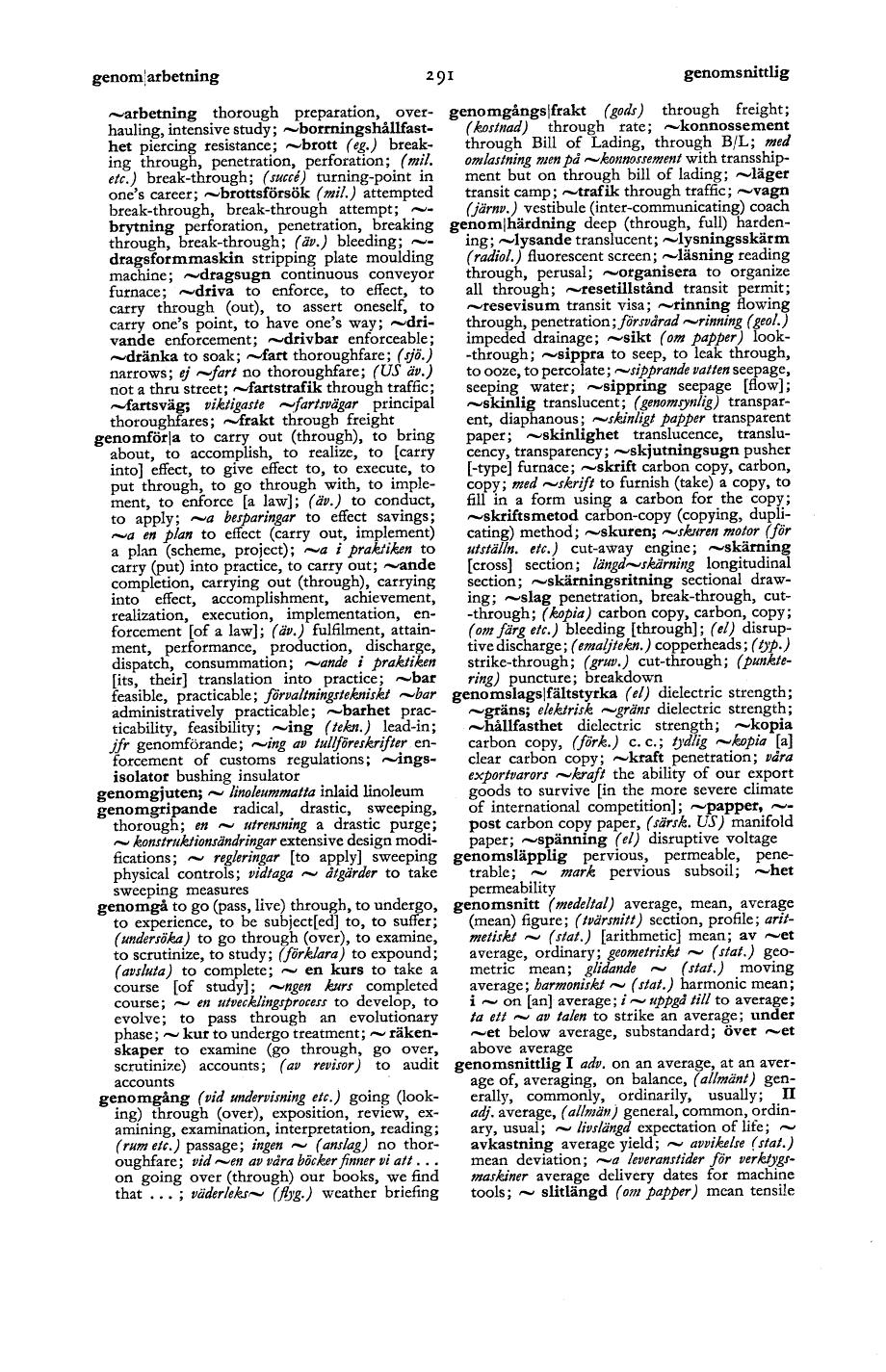 291 (Svensk-engelsk fackordbok för näringsliv, förvaltning ...