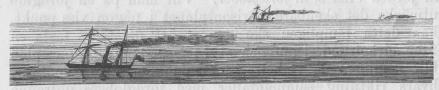 <bBild 3. — Fartyg på hafvet, på olika afstånd från åskådaren.<b