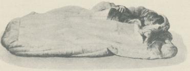 <bExpeditionens  sovsäck avsedd  för de tre  deltagarna.  Fotografi  tagen<b<bföre avfärden.