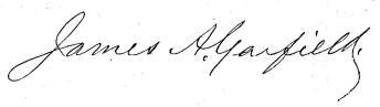 Garfields namnteckning.