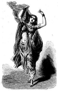 Indisk danserska.