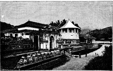 Buddhistiskt tempel på Ceylon.