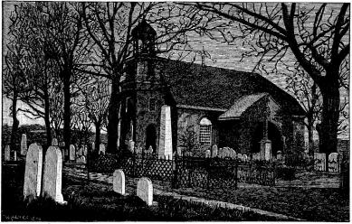 Gamla svenska kyrkan i Wilmington.