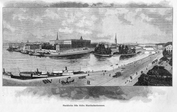 Stockholm från Södra Blasiiholmshamnen.