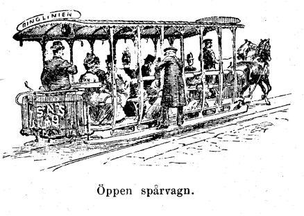 Öppen spårvagn.