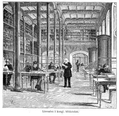 Läsesalen i kungl. biblioteket.