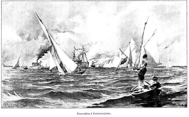 Kappsegling å Kanholmsfjärden.