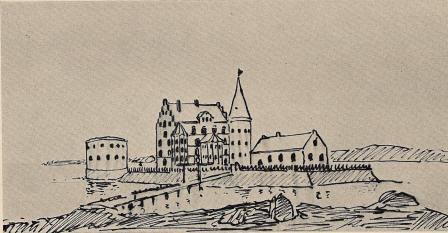 <tabl</t<tFig. 2. Denna teckning, förvarad i Dansk Nationalmuseums arkiv, är en kopia efter<bett original, som angives vara från den Suhmske Samling, men som f. n. icke kunnat<båterfinnas. Den har påteckningen Sölvesborg, men torde med all säkerhet visa<bLillöhus vid 1600-talets början. Erik Dahlbergs teckning av Lillö överensstämmer med<bdenna, men har icke rundtornet på borggården, ej heller rondellen t. v. — En kopia<bav det danska originalet finnes i den Bruniusska samlingen, A. T. A.; den har också<bpåteckningen Sölvesborg, men denna påteckning kan gälla en där nedanför uppritad borg.</t</t</tabl