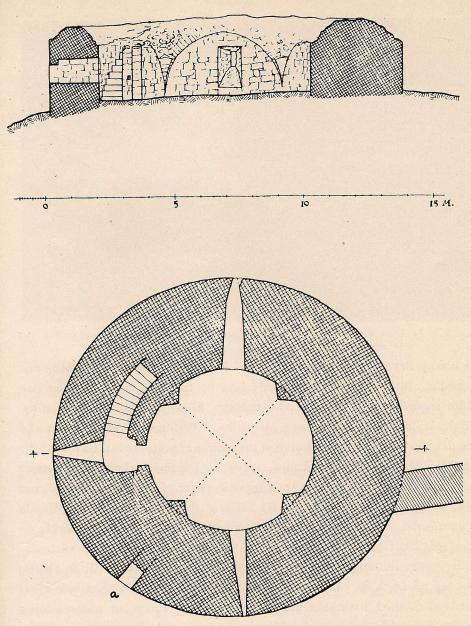 Fig. 6. Stensö rundborg. Uppmätning av K. v. Schmalensee och H. Åkerlund.