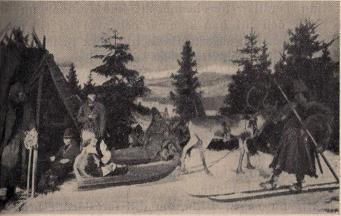 Höstflyttning i Lule lappmark pà utställningen i Paris 1878.