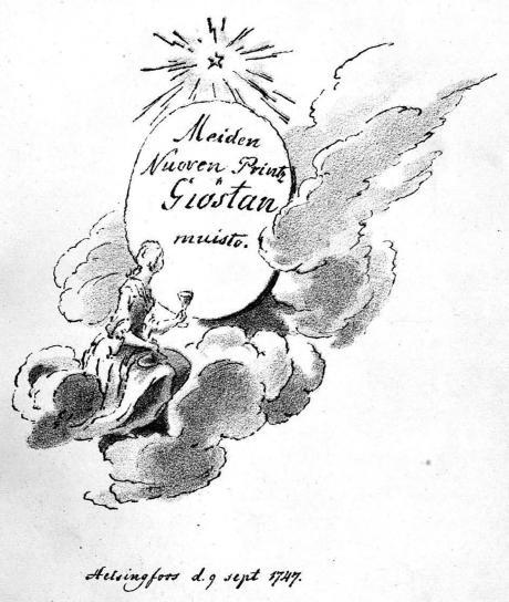 <bMeiden<bNuoven Printz<bGiöstan<bmuisto.<b<bHelsingfors d. 9 sept. 1747.