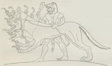 Fig. 3. Billede paa en ionisk Vase fra 6. Aarh. f. Kr.