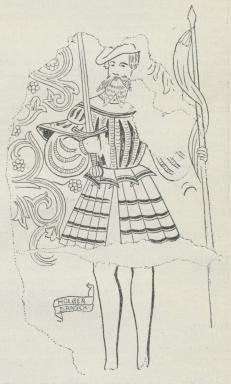 Fig. 1. Holger Danske (Kalkmaleri fra Sjælland;<bReformationstiden).