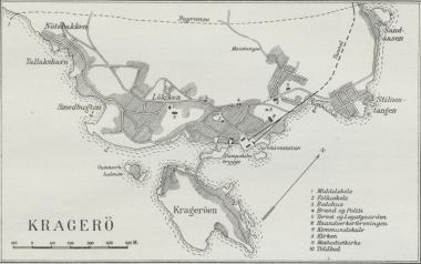 Situationsplan over Kragerø.