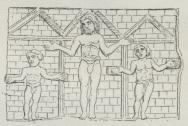 Fig. 1. Jesus og de to Røvere (fra Santa Sabina<bi Rom).
