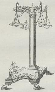 Fig. 6. Bronzekandelaber med 4 Lamper (Pompeji).