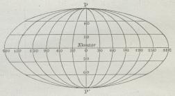 Fig. 6. Mollweides Projektion.