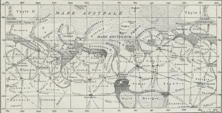 Marskort (efter Schiaparelli).