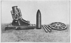 Fig. 1. 25 cm tysk Minekaster i skudstilling