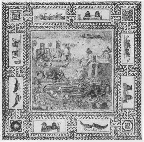 Fig. 1. Antik romersk Gulvmosaik.