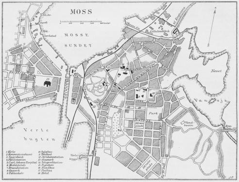 Situationsplan over Moss.