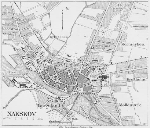 Situationsplan over Nakskov.