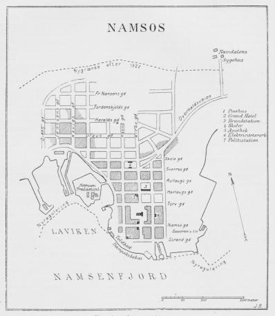 Situationsplan over Namsos.