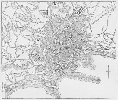 Situationsplan over Napoli.