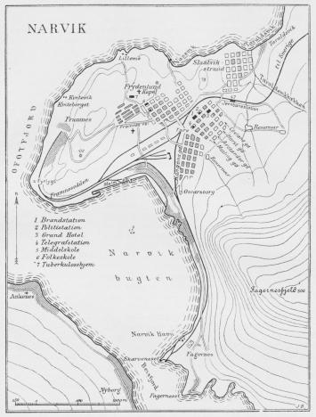 Situationsplan over Narvik.