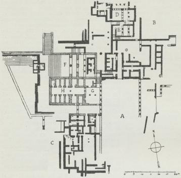 Fig. 2.<bPaladset i Phaistos.<b(Partiel Plan).