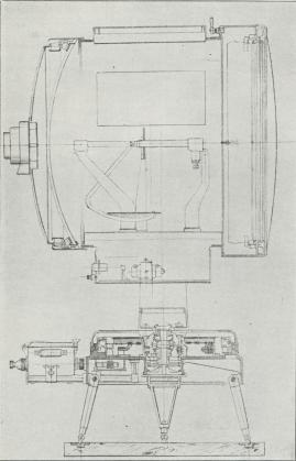 Fig. 3. 90 cm Projektør fra Officine Galileo i Firenze.