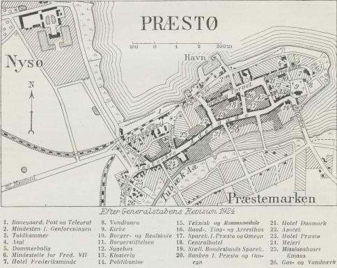 Situationsplan over Præstø.