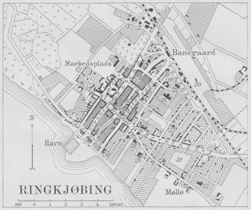 Situationsplan over Ringkjøbing.