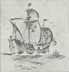 Fig. 1. Sejlskib fra Slutningen af 15. Aarh.