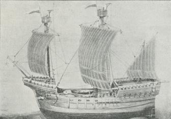 Fig. 2. Hanseatisk Kogge (15. Aarh.).