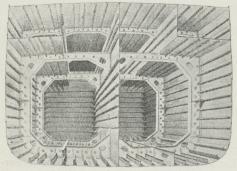 Fig. 7. Snit i Olietankskib. Isherwood System.