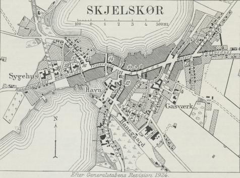 Situationsplan over Skjelskør.