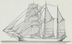 Fig. 4. 3-mastet Skonnertbrig.